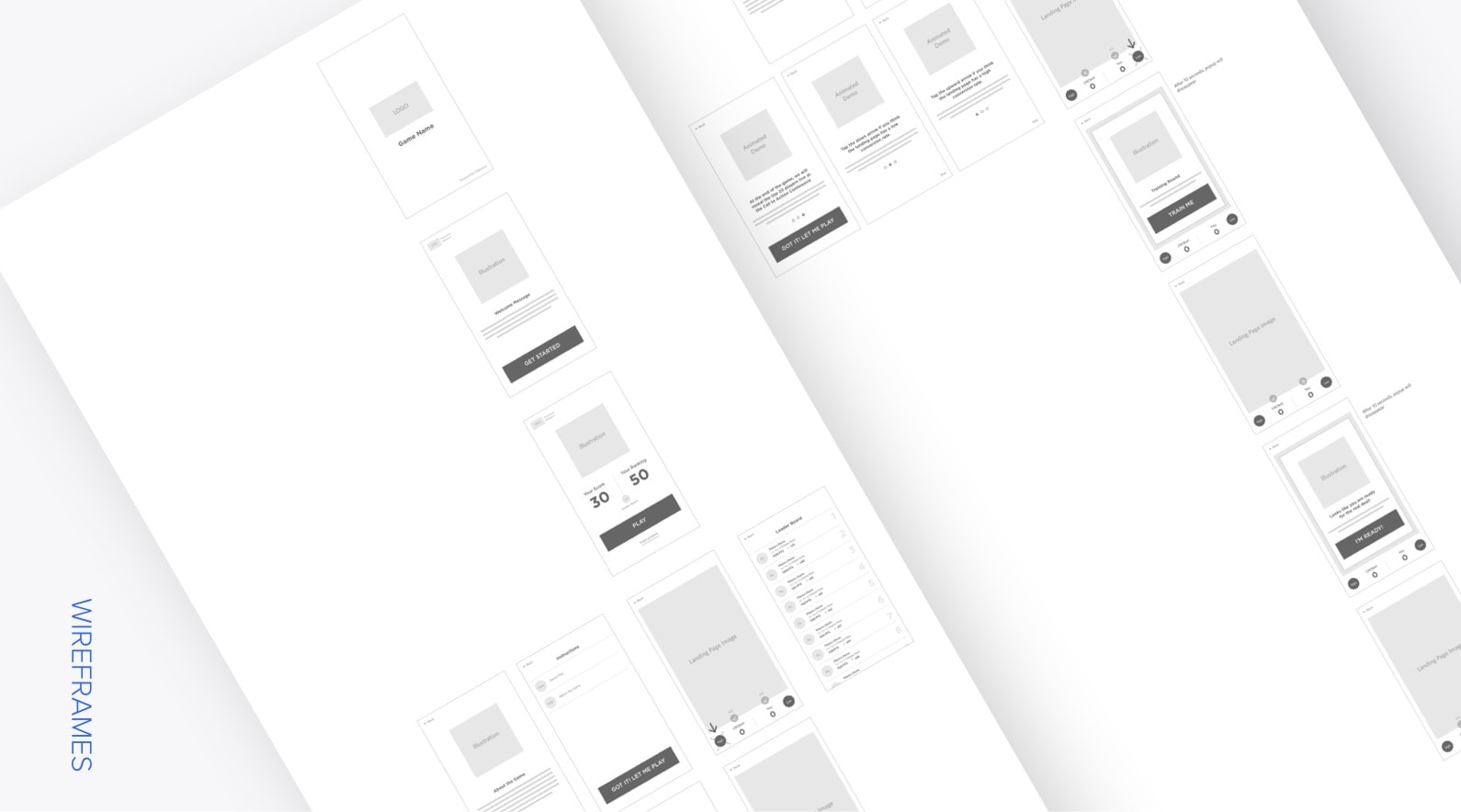 machine vs marketer wireframes